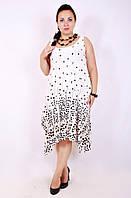 Сарафан большого размера Летний молоко, платья большого размера, женская одежда больших размеров