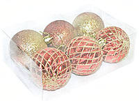 Шарики новогодние на елку набор 6 шт