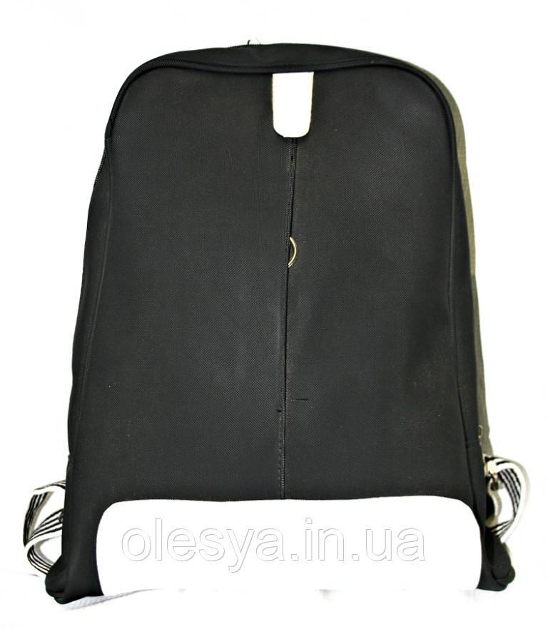 Рюкзак городской Лакоста черный, кожаный рюкзак, рюкзак кожзам, рюкзак женский, рюкзаки оптом, дропшиппинг