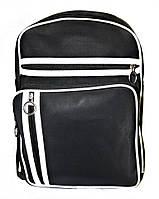 Рюкзак городской адидас черный, кожаный рюкзак, рюкзак кожзам, рюкзак женский