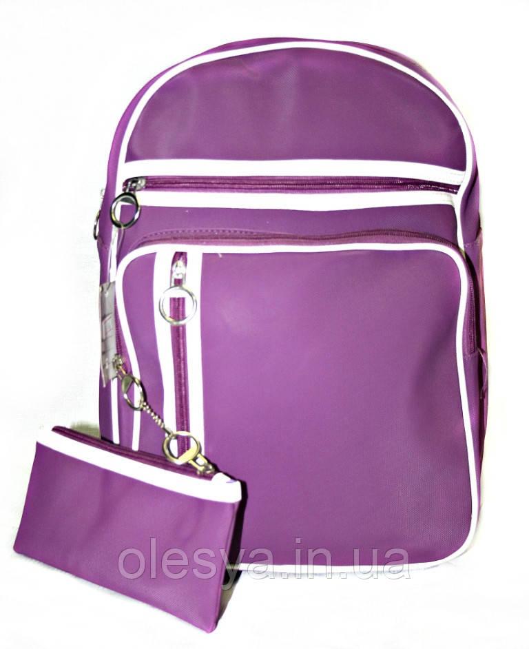Рюкзак городской адидас 36716 сиреневый, кожаный рюкзак, рюкзак кожзам, рюкзак женский, оптом, дропшиппинг