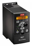 Частотный преобразователь Danfoss (Данфосс) FC51 / 0,75 кВт / 3-ф (132F0018) + панель управления