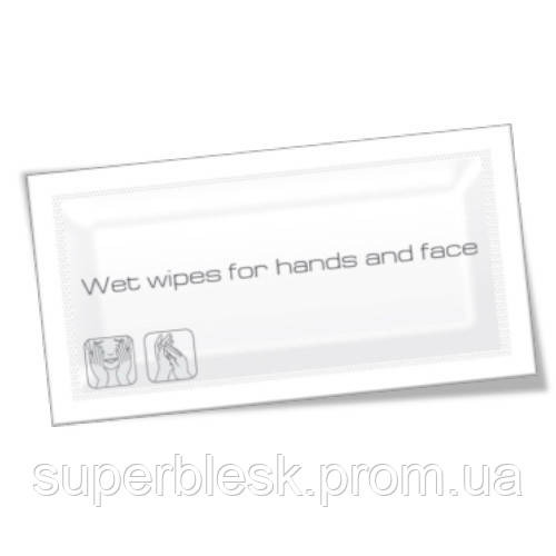 PRO service влажные салфетки для рук и лица в саше, увеличенный размер