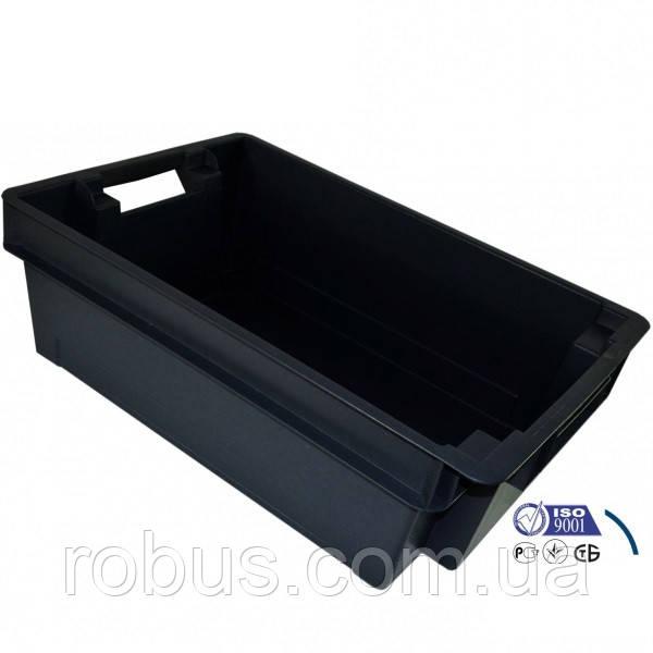 Ящик Черный оборотный сплошной 600х400х200