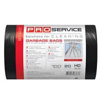 PRO service пакеты для мусора, 20 л, 100 шт., черные