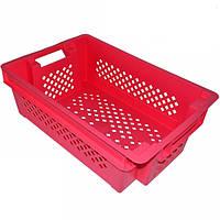 Ящик Красный оборотный перфорированный 600х400х200