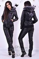 Женский спортивный костюм еврозима с мехом чернобурки