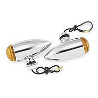 Указатели поворота Biker's Choice Smooth Bullet, желтые светофильтры