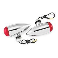 Указатели поворота Biker's Choice Smooth Bullet, красные светофильтры
