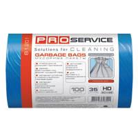 PRO service пакеты для мусора, 50х55 см, 35 л, 100 шт., синие