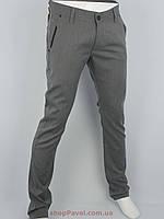 Стильные мужские брючные джинсы Cen-cor CNC-3021 серого цвета