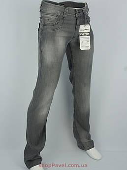 Мужские джинсы Differ E-1688-1 в сером цвете с потертостями