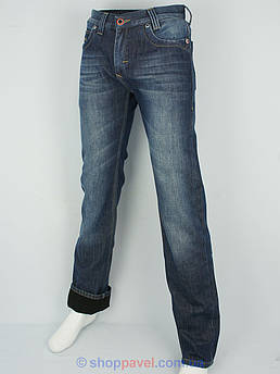 Мужские синие джинсы Cen-cor MD-1183 на флисе