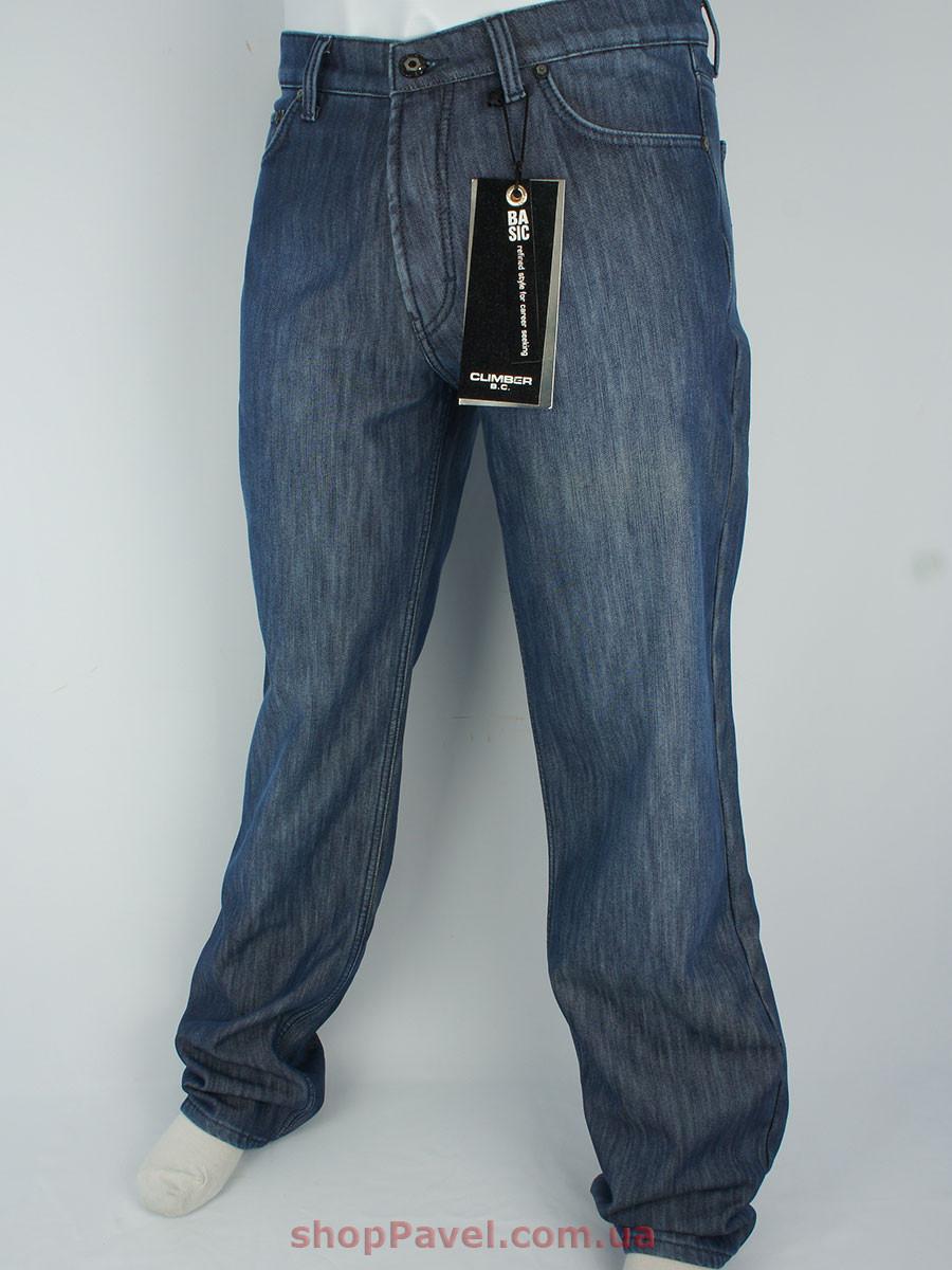 Мужские зимние джинсы Climber 0511 М15 синего цвета в большом размере