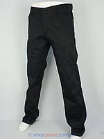 Мужские черные джинсы X-Foot 160-1705 на флисе