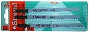 Пилки для электролобзика по металлу Sturm (3 шт, 75x2,5 мм) 9019-01-75x3-HSS-10