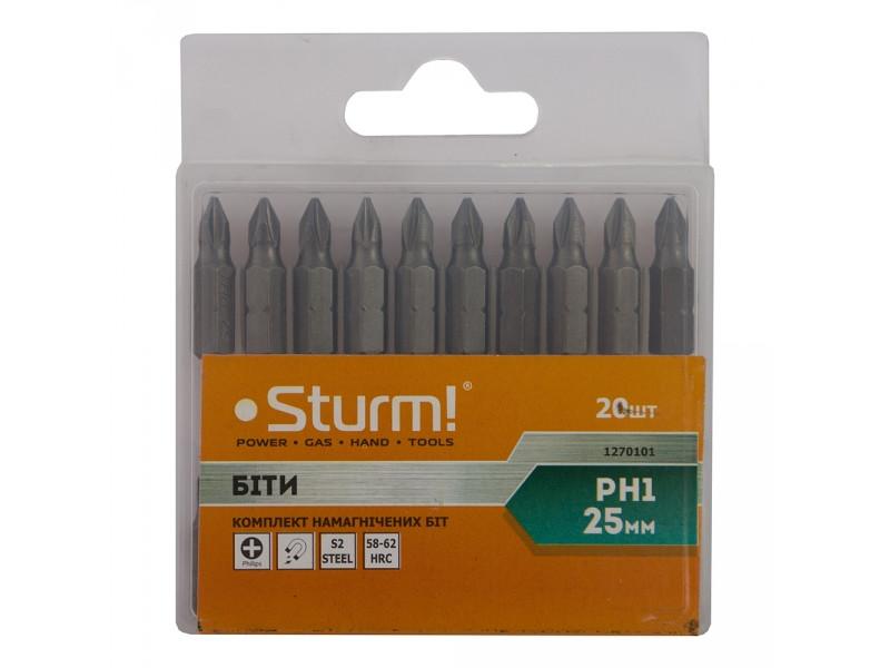 Набор бит Sturm 1270101 S2 PH1 x 25мм, 20шт