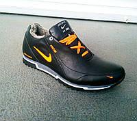 Зимние кожаные мужские кроссовки Nike 40-45 р-р