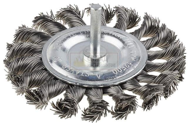 Щетка Эталон дисковая плетеная и дисковая рифленая