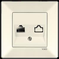 Розетка компьютерная Viko Meridian крем