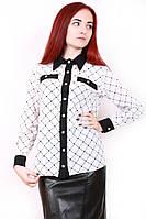 Блуза шифоновая 383 ромбы