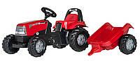 Трактор педальный Kid Case c прицепом Rolly Toys красный