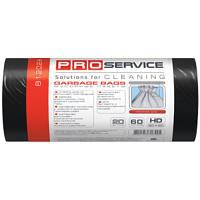 PRO service пакеты для мусора, 60х80 см, 60 л, 20 шт., черные