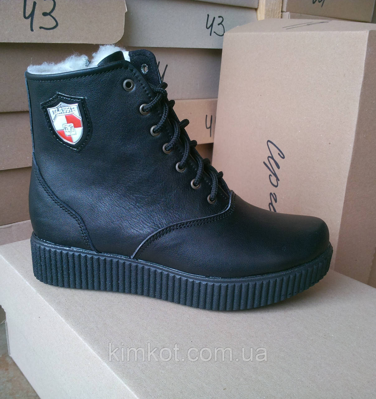 0d93116ed Женские кожаные зимние ботинки на низком ходу 36 -41 р-р: продажа ...