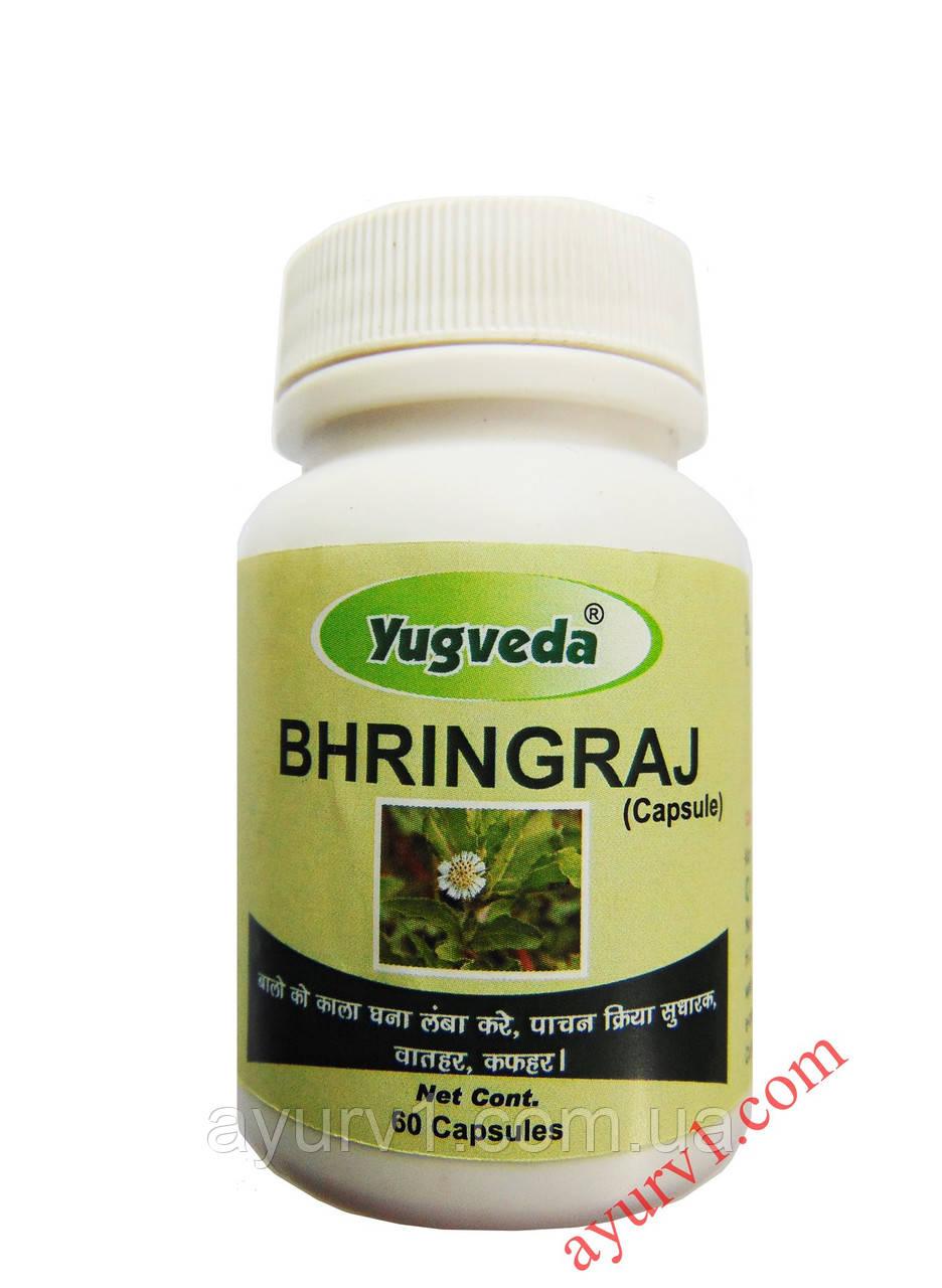 """""""Король волос"""", от выпадения волос / Брингарадж, Югведа / Bhringraj, Yugveda / 60 кап"""