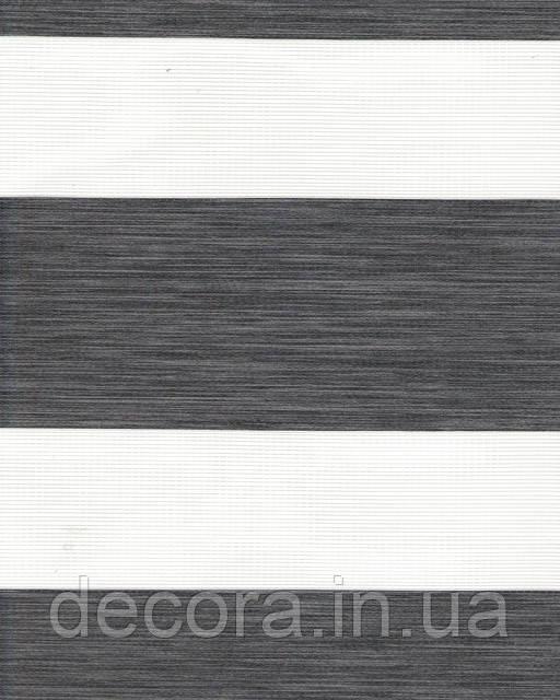 День-ніч міні Олімпос зебра темно сірий 2095