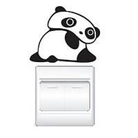 Наклейка на выключатель Панда 3D декор
