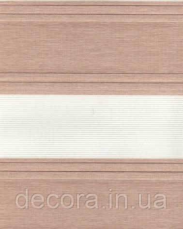 День-ніч міні Плісе зебра коричневий 2073, фото 2