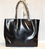 Кожаная женская сумка шопер