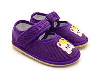 Фиолетовые тапочки для девочка, домашние и в садик. 101 Котёнок (23-27)