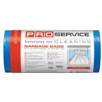 PRO service пакеты для мусора, 70х109 см, 120 л, 20 шт., синие