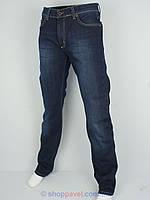 Стильные мужские джинсы Activator 105-L в темно-синем цвете на флисе