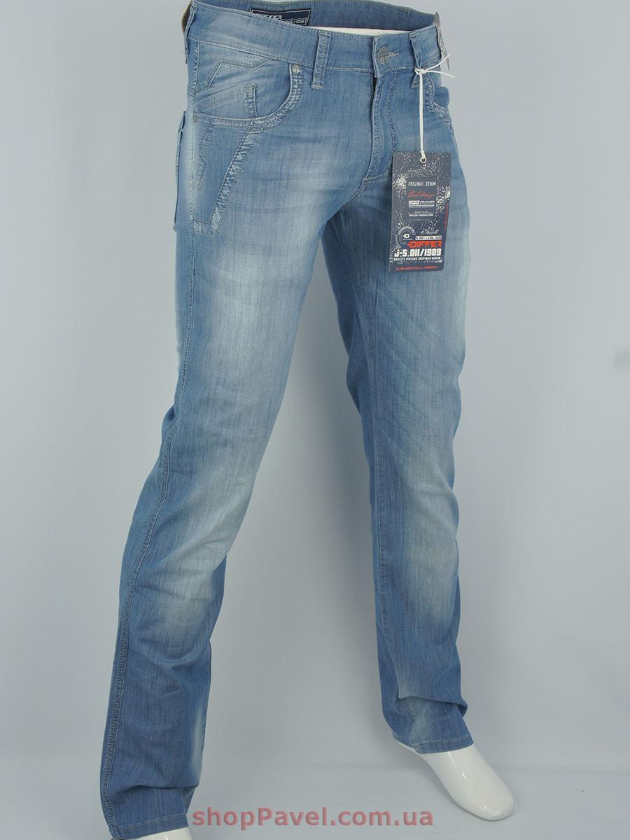 Стильные мужские джинсы Differ E-1618-1 SP.435-11 гоубого цвета