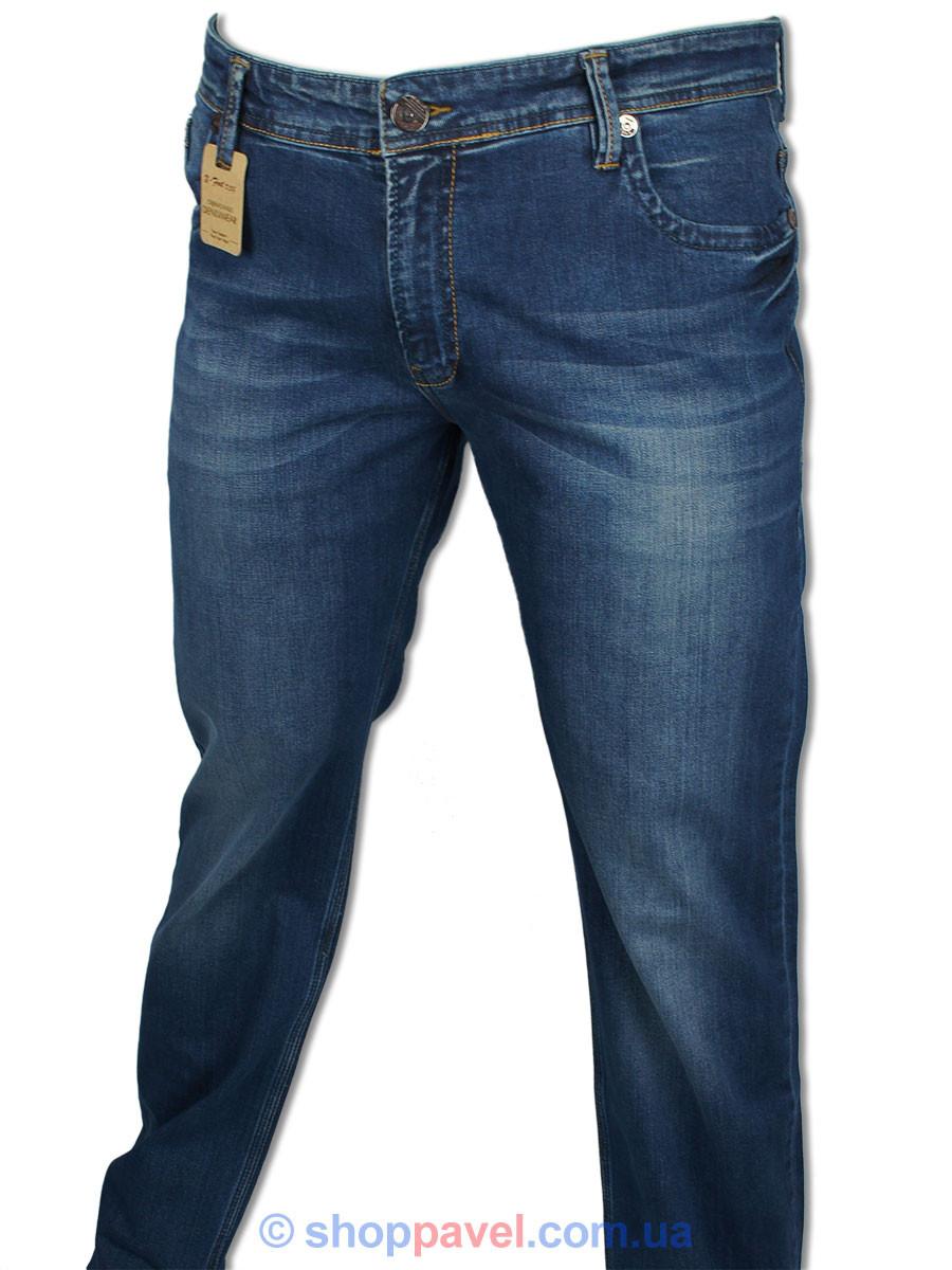 Мужские джинсы X-Foot 140-2065 в темно-синем цвете