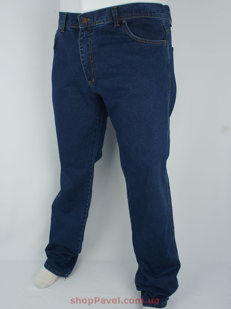 Синие мужские джинсы в стиле W 149 в большом размере