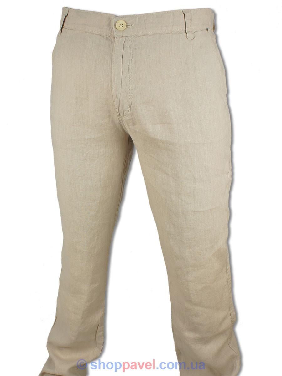 Мужские льняные джинсы Cen-cor CNC-3033 C-Bej в бежевом цвете