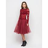 Пышная юбка из фатина в цвете бордо, фото 3
