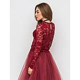 Пышная юбка из фатина в цвете бордо, фото 4