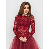 Пышная юбка из фатина в цвете бордо, фото 5