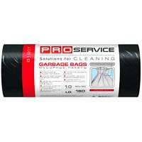 PRO service пакеты для мусора, 90х110 см, 160 л, 10 шт., черные