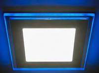LED панель Lemanso 12+4W с синей подсветкой 4500K квадрат \ LM501