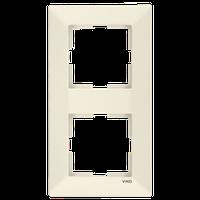 Рамка 2-я вертикальная Viko Meridian крем