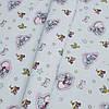 Ткань постельная 137368 Бязь (ПАК)НАБ. ГОЛД FM рис 1065-С ГОЛУБОЙ 220СМ
