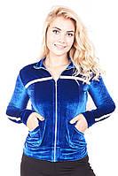 Мастерка женская велюровая 187 (3 цвета), женская одежда от производителя, недорого, дропшиппинг поставщик