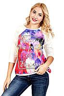 Футболка женская Березка Follow, футболки оптом, женская футболка с рукавом, дропшиппинг  поставщик