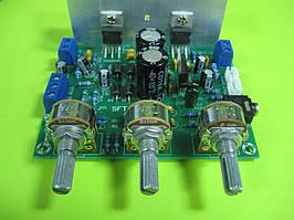 Усилитель звука НЧ  на TDA2030 HIFI 2.0 15W+15W LM1875 (SFT-108P) с регулятором тембра и громкости